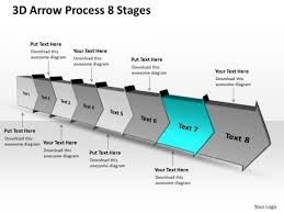 3d Flow Chart Powerpoint 3d Arrow Process 8 Stages Ppt Flow Chart Free Powerpoint