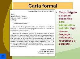 Ejemplos De Cartas Y Partes De Una Carta