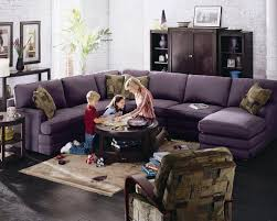 Purple Living Room Chairs Confortable Purple 5 Piece Lazy Boy Sectional Sofa With Corner