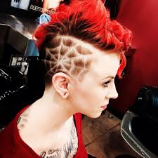 Side Cut Designs Half Shaved Head Designs Google Search Mohawk Stuff
