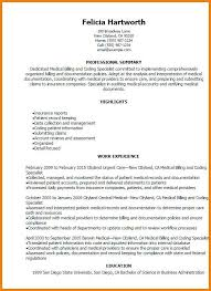 Coding Specialist Sample Resume Simple Medical Billing Specialist Resume Beautiful Medical Billing