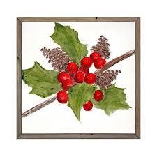 Holly <b>Berry</b> Framed Screen Art | <b>Christmas decorations</b>, Christmas ...