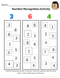 Illustrated number colouring sheets (sb2164). Number Recognition Activity Worksheets Madebyteachers