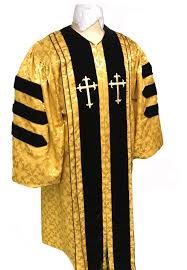 Gold Brocade Clergy Robe