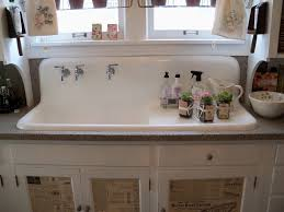 Attractive Alluring White Kitchen Farm Sinks And Stunning White Cabinet  Kitchen Plus Wall Mount Faucets