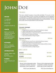 13 Resume Template Free Word Professional Resume List