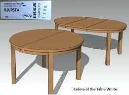 bjursta table extendable table bjursta table colors