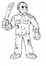 20 Jason Scary Halloween Coloring Pages Ideas And Designs