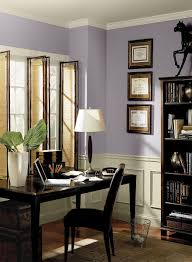 paint ideas for home office. Fresh \u0026 Airy Purple Home Office - Wisteria AF-585 (upper Walls), Jute AF-80 (ceiling, Trim Wainscoting), Carbon Copy 2117-10 (accent) Paint Ideas For A