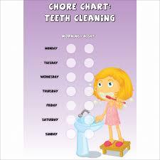 Teeth Cleaning Sticker Chart Girls Chore Chart Teeth Cleaning