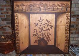 hand painted fireplace screen small home decoration ideas fresh to hand painted fireplace screen interior designs
