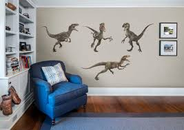 raptor collection jurassic world large officially licensed removable wall decals fathead wall decal