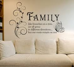 Vinyl Wall Quotes Stunning Family Like Branches Quotes Butterfly Vinyl Wall Art Sticker Flower