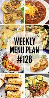 Weekly Menu Weekly Menu Plan #126 - Cafe Delites