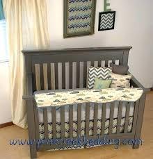 car crib bedding set vintage boy nursery bedding retro car print teething guard and navy chevron