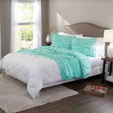 better homes gardens full basketweave ruched comforter set 4 piece aqua full com