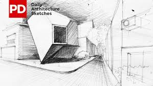 architecture sketches. drawing reflection of mineral house daily architecture sketches 4