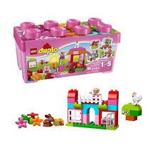 Bộ đồ chơi Lego Duplo 10571 - All In One Pink Box Of Fun - Thùng gạch vui