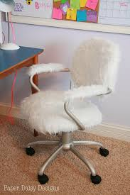 architecture fuzzy office chair awesome diy it throw a white blanket over your in 0