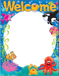 Welcome Chart Images Welcome Sea Buddies Learning Chart T 38357