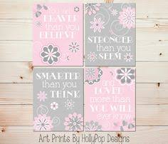 pink gray nursery decor you are braver than you believe baby girl nursery wall decor toddler girls room wall art set of 4 art prints 0805 on little girl bedroom wall art with purple bedroom decor toddler girl art prints she leaves little