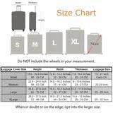 La Vie En Rose Size Chart Anniepwanderlust La Vie En Rose Premium Design Luggage Suitcase Protective Cover