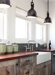 industrial pendant lighting for kitchen. Industrial Pendant Lighting Kitchen Contemporary With Farm Sink Glass Mosaics. Image By: Richard Bubnowski Design LLC For K