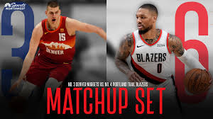 The portland trail blazers came into denver for game 1 on a mission, and although nikola jokic and michael porter jr. Nba Playoffs No 6 Portland Trail Blazers Set To Play No 3 Denver Nuggets Rsn