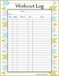 Workout Log Spreadsheet Printable Workout Log Sheets Free Printable