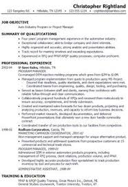 marketing program manager one page resume for martha osborn    sample resume for someone seeking a job as a program manager or project manager in the