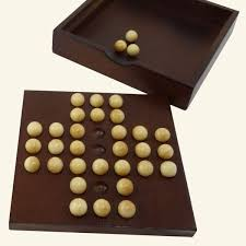 Wooden Peg Solitaire Game Solitaire Wooden Puzzle Wooden board game Mr Puzzle 64