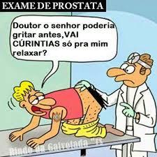 como  feito exame da prstata