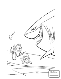 Bubbles Cartoons Finding Nemo Coloring Pages For Kids Bruce Of From