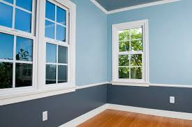 interior room painted blue