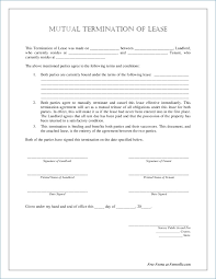 Mutual Lease Termination Agreement Form Mutual Termination Agreement