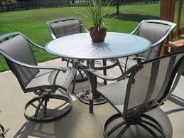 Fascinating Patio Furniture With Round Dining Table And
