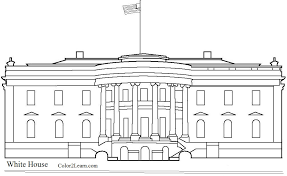 Small Picture United States Landmarks Coloring coloring in White House Coloring