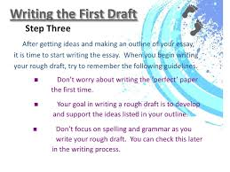 writing process ppt and assignment writing the first draft