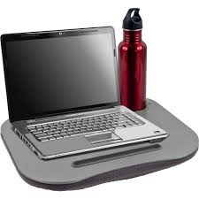 com laptop buddy gray cushion desk with pen and cup holder 72 698005 electronics