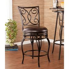 wrought iron and wood furniture. 30 Bar Stools Black Wrought Iron Wood Swivel With Carved Back And Round Leather Furniture