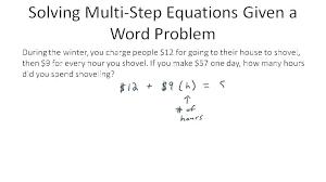 worksheets multi step equations worksheet grade multiple solving algebra 2 thumb 1 algebraic 8th pdf