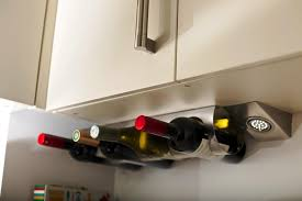 image of under cabinet wine glass rack ikea