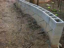... Cinder Block Retaining Wall Design Marvelous Home Drainage Patio Garage  ...