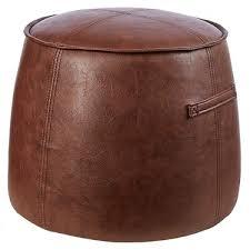 faux leather ottoman. Living Space Faux Leather Ottoman Tan 40 X 49 Cm S