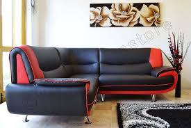 new passero faux leather corner sofa suite black white red inside and sofas prepare 8