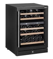 Weinkühlschrank Mit 2 Temperaturzonen 155 Liter Max 44 Weinflaschen 5 Holzablagen 596x654xh855mm