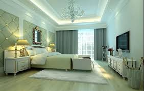 graceful crystal chandelier in unique design above bed as best bedroom ceiling lights