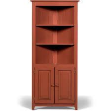pantry heirloom red corner cabinet