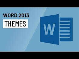 Word 2013 Themes Word 2013 Themes Youtube