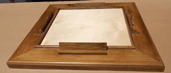 modular table top domino table early american finish